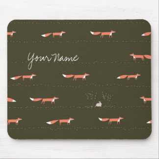 Woodland Foxes Mousepad