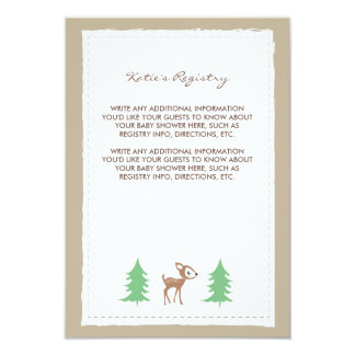 Woodland Friends Baby Shower Insert Card 9 Cm X 13 Cm Invitation Card