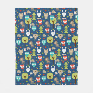 Woodland Friends Fleece Blanket