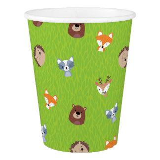 Woodland Friends - Fox Bear Raccoon Hedgehog Deer Paper Cup