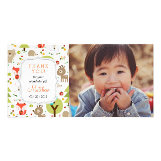 Woodland Friends Photo Any Occasion Thank you Picture Card