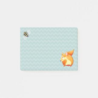 Woodland Fun aqua Fox Post-it® Notes 4 x 3