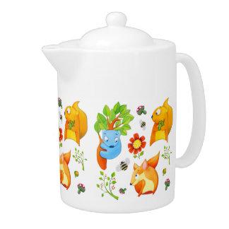 Woodland Fun Teapot