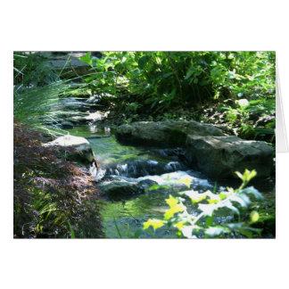 Woodland Garden Stream Card