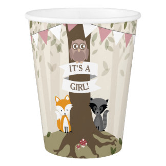 Woodland Girl Baby Shower Cup
