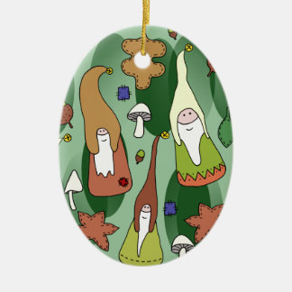 Woodland Gnomes Ceramic Oval Decoration