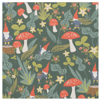Woodland Gnomes Fabric