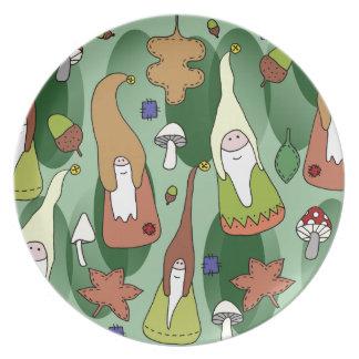 Woodland Gnomes Plates