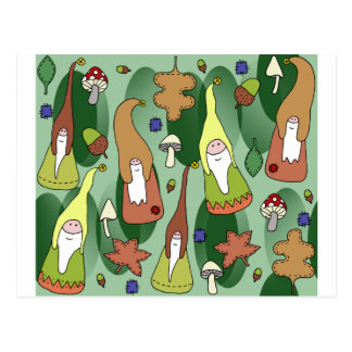 Woodland Gnomes Postcard