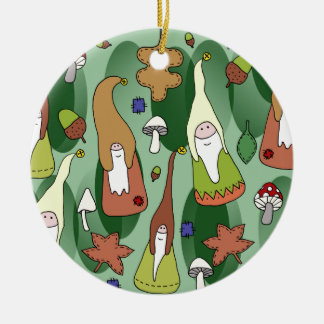 Woodland Gnomes Round Ceramic Decoration