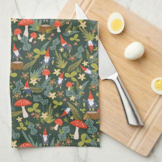 Woodland Gnomes Tea Towel