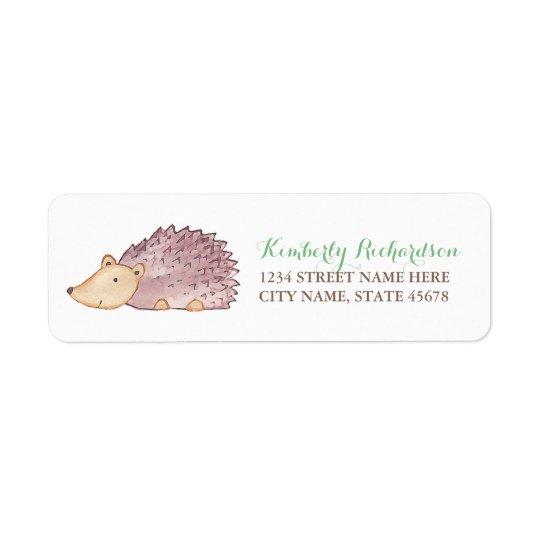 Woodland Hedgehog Address Label