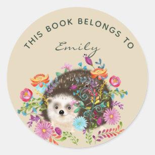Woodland Hedgehog BOOK Stickers - add name