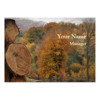 Woodland in fall business card
