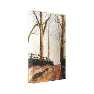 Woodland Lane Canvas Print