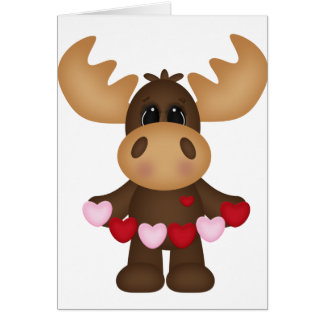 Woodland Love Moose Card