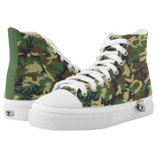 Woodland Military Camo High Tops