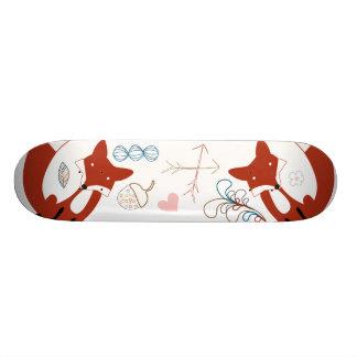 Woodland Modern Fox Arrows Acorn Leaf Pattern 20 Cm Skateboard Deck