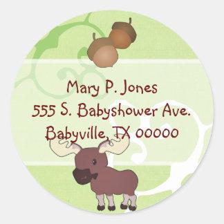 Woodland Moose Address Label Stickers