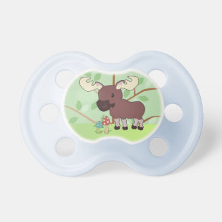 Woodland Moose Baby Pacifier
