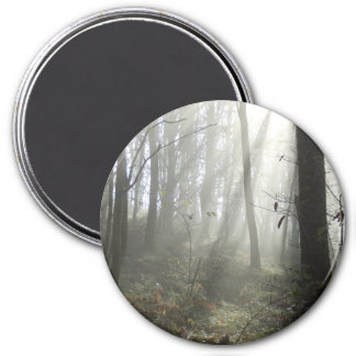 Woodland Morning Mist Large Round Magnet