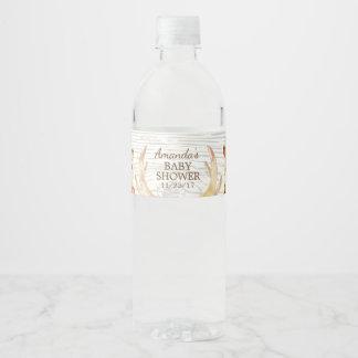 Woodland Neutral Baby Shower Water Bottle Label