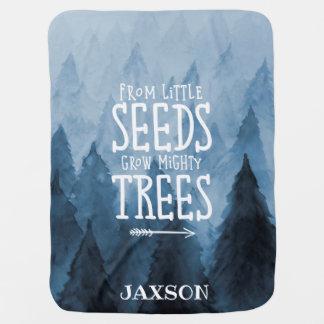 Woodland Nursery Personalized Message Blanket