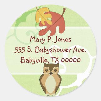 Woodland Owl Address Label Stickers