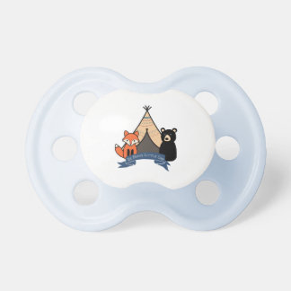 Woodland Pacifier for Baby Boy