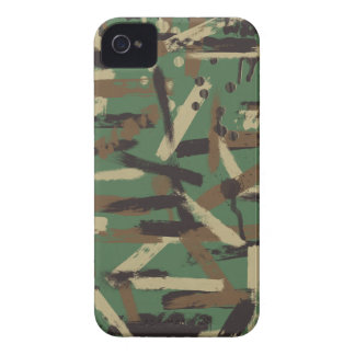Woodland Paint Stroke Camouflage iPhone 4 Cases