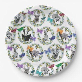 woodland party paper plate