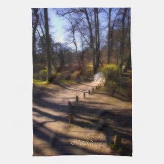 Woodland Path and Fairy Bridge Towel