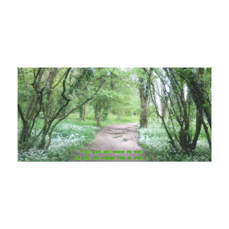 Woodland Path (wider) with Quote Canvas Print