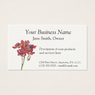 Woodland Peony Seed Pod Business Card