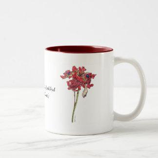 Woodland Peony Seed Pod Two-Tone Coffee Mug