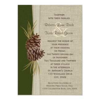 Woodland Pines Wedding 13 Cm X 18 Cm Invitation Card