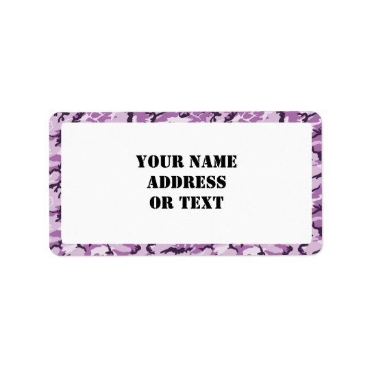 Woodland Pink/Purple Camouflage - with White Label