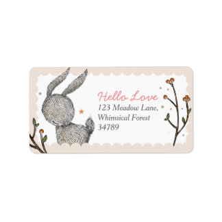 Woodland Rabbit Address Labels