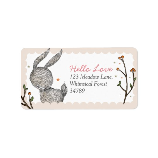 Woodland Rabbit Address Labels