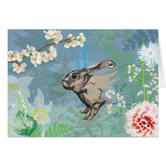 woodland rabbit card