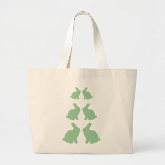 WOODLAND RABBIT LARGE TOTE BAG
