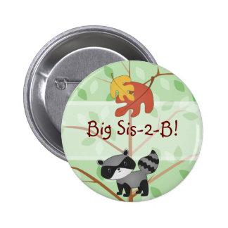 Woodland Raccoon Button
