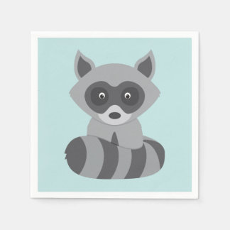 Woodland Raccoon Disposable Serviette