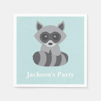 Woodland Raccoon Paper Serviettes