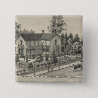 Woodland residences 15 cm square badge