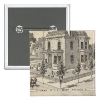 Woodland residences lithographed 15 cm square badge