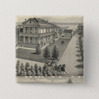 Woodland residences lithographed drawing 15 cm square badge