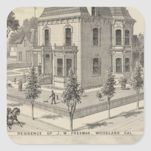 Woodland residences lithographed sticker