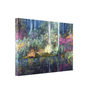 Woodland River Bank Canvas Print