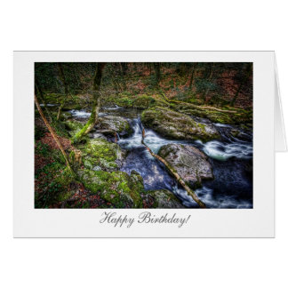 Woodland River - Happy Birthday Greeting Card